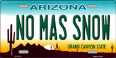No Mas Snow Novelty Wholesale License Plate
