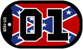 01 Confederate Flag Dog Tag Kit Wholesale Novelty Necklace DT-1929