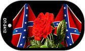 Confederate Rose Dog Tag Kit Wholesale Novelty Necklace DT-2412