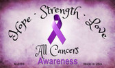 All Cancers Ribbon Wholesale Novelty Magnet M-8300