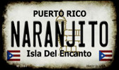 Narajito Puerto Rico State License Plate Wholesale Magnet