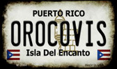 Orocovis Puerto Rico State License Plate Wholesale Magnet M-2864