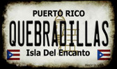 Quebradillas Puerto Rico State License Plate Wholesale Magnet M-2868