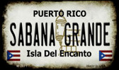 Sabana Grande Puerto Rico State License Plate Wholesale Magnet M-2871
