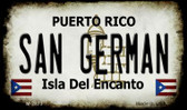 San German Puerto Rico State License Plate Wholesale Magnet M-2873