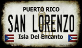 San Lorenzo Puerto Rico State License Plate Wholesale Magnet M-2875
