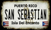 San Sebastian Puerto Rico State License Plate Wholesale Magnet M-2876