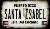 Santa Isabel Puerto Rico State License Plate Wholesale Magnet M-2877