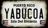 Yabucoa Puerto Rico State License Plate Wholesale Magnet M-2886