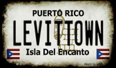 Levittown Puerto Rico State License Plate Wholesale Magnet M-4751