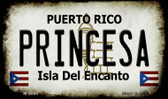 Princesa Puerto Rico State License Plate Wholesale Magnet M-6860