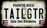 Tailgtr Puerto Rico State License Plate Wholesale Magnet M-6861