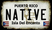 Native Puerto Rico State License Plate Wholesale Magnet M-6866