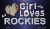 This Girl Loves Her Rockies Wholesale Magnet M-8073