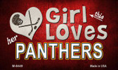 This Girl Loves Her Panthers Wholesale Magnet M-8449