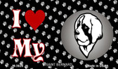 I Love My Saint Bernard Wholesale Magnet M-3926
