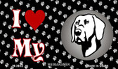 I Love My Weimaraner Wholesale Magnet M-3932