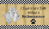 Schnauzer Pencil Sketch Wholesale Magnet M-1713