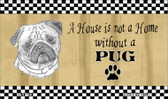 Pug Pencil Sketch Wholesale Magnet M-1714
