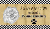 Pomeranian Pencil Sketch Wholesale Magnet M-1716