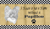 Papillon Pencil Sketch Wholesale Magnet M-1722