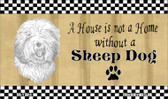 Sheep Dog Pencil Sketch Wholesale Magnet M-1724