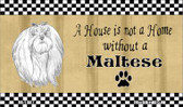 Maltese Pencil Sketch Wholesale Magnet M-1727