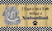 Newfoundland Pencil Sketch Wholesale Magnet M-1729