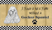 Cocker Spaniel Pencil Sketch Wholesale Magnet M-1700