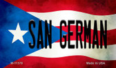San German Puerto Rico State Flag Wholesale Magnet M-11378