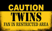 Caution Twins Fan Area Wholesale Magnet M-2639