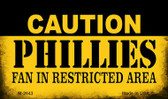 Caution Phillies Fan Area Wholesale Magnet M-2643