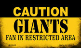 Caution Giants Fan Area Wholesale Magnet M-2645