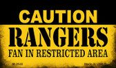 Caution Rangers Fan Area Wholesale Magnet M-2648