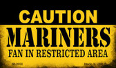 Caution Mariners Fan Area Wholesale Magnet M-2650