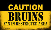 Caution Bruins Fan Area Wholesale Magnet M-2654