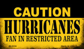 Caution Hurricanes Fan Area Wholesale Magnet M-2656