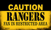 Caution Rangers Fan Area Wholesale Magnet M-2661
