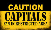 Caution Capitals Fan Area Wholesale Magnet M-2667