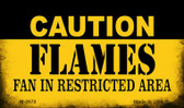 Caution Flames Fan Area Wholesale Magnet M-2670