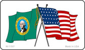 Washington Crossed US Flag Wholesale Magnet M-11507