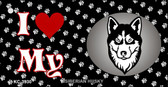 I Love My Siberian Husky Wholesale Key Chain KC-3930