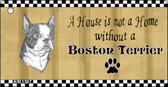 Boston Terrier Pencil Sketch Wholesale Key Chain KC-1707