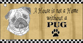 Pug Pencil Sketch Wholesale Key Chain KC-1714