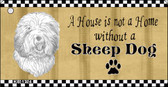 Sheep Dog Pencil Sketch Wholesale Key Chain KC-1724