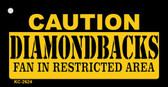 Caution Diamondbacks Fan Area Wholesale Key Chain KC-2624