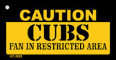 Caution Cubs Fan Area Wholesale Key Chain