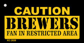 Caution Brewers Fan Area Wholesale Key Chain