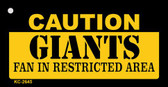 Caution Giants Fan Area Wholesale Key Chain