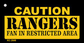 Caution Rangers Fan Area Wholesale Key Chain